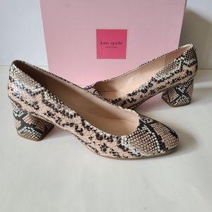 Kate Spade Snake Leather Heels Size 10